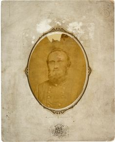 Thomas J. Oval chest up portrait measuring approximately x - Available at 2014 June 7 Civil War &. Stonewall Jackson, Southern Style, Auction, War, History, Genealogy, Families, Photography, Colors