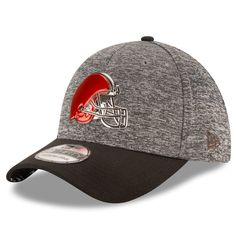 super popular 995eb 4a240 ... discount code for cleveland browns new era draft shadow tech 39thirty  flex hat heather gray black