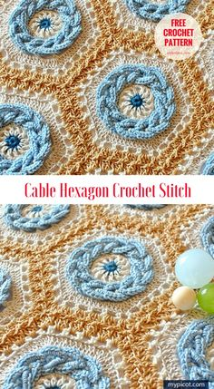 Cable Hexagon Crochet Stitch [Free Pattern] - Pattern and Tutorial with US terms Another amazing crochet stitch which looks perfect with any below colors. But you can choose any type of yarn for your personal project. #crochet #stitch