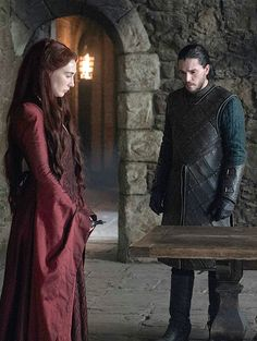 Melisandre & Jon Snow (6x10)  'The Winds Of Winter'
