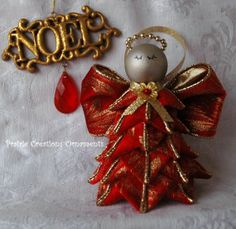 Quilted Christmas Ball Ornament Burgundy & by MyPrairieCreations