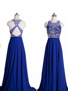 Bg1094 Sexy Halter Royal Blue Prom Dress,Chiffon Prom