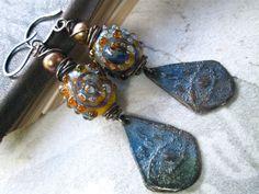 TERTIUS OCULUS Bohemian Chic Dangle Earrings by MangledMuttStudios