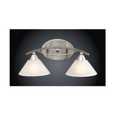 Westmore Lighting 2-Light Satin Nickel Bathroom Vanity Light - Vanity Lighting Fixtures - Amazon.com