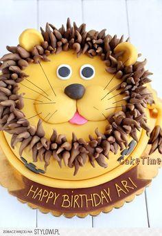 Safari Birthday Cakes, Lion Birthday, Baby Boy First Birthday, Baby Cakes, Cupcake Cakes, 3d Cakes, Lion Cakes, Easy Minecraft Cake, Jungle Cake