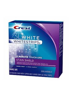 If you want whiter teeth you have to whiten them — that's obvious, right? But sometimes we just can't find the time. These strips only take five minutes a day to work and claim they won't cause tooth sensitivity. The result? Brighter, whiter teeth before you know it. Crest 3D White Whitestrips 5 Minute Touch-Ups with Stain Shield, $34.99, drugstore.com.