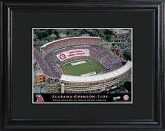 College Stadium Print with Wood Frame - Alabama