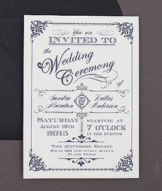 Best Seller - Ornate Vintage Type Invitation