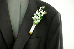 lily of the valley boutonniere spring weddings by HansHolzkopf