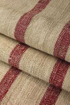 Beautiful grain sack fabric