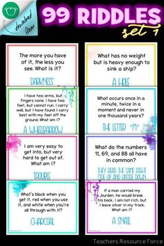 Are you looking for some gripping ways to settle your students really quickly at the start of your lesson? Here are 99 of the best riddles out there that you can use as bell ringers / lesson starter activities for teens! Tricky Riddles, Funny Riddles With Answers, Jokes And Riddles, Morning Meeting Activities, Morning Meetings, English Riddles, Activities For Teens, College Activities, Time Activities