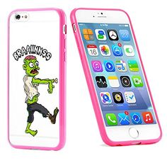 Popular Apple iPhone 6 or 6s Brains Zombie Cute Gift for Teens TPU Bumper Case Cover Mobile Phone Accessories Hot Pink MonoThings http://www.amazon.com/dp/B017HVD0A6/ref=cm_sw_r_pi_dp_vS9nwb0RMFG0T