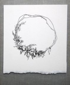 Image result for pen and ink wreath