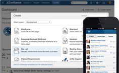 Create, share, and discuss work with coworkers in Confluence