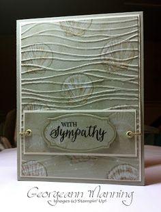 Stampin' Everything!: Rose Wonder, Seaside Sympathy Card