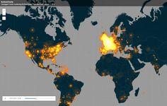 #JeSuisCharlie werd op 7 januari een trending hashtag, om een reden die we maar al te goed weten: de aanslag op de redactie van het Franse weekblad. Binnen twee dagen maakte de Britse datajournalist Simon Rogers een interactieve wereldkaart op basis van alle tweets met de hashtag #JeSuisCharlie.