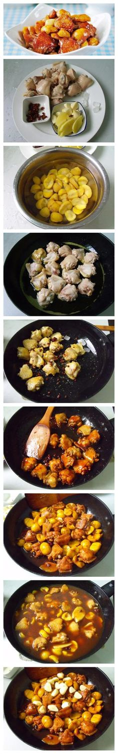 Stewed Chicken Wings with Chestnuts  Cleaning up the pantry yielded several…