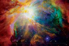 Orion Nebula Space Photo Art Poster Print Posters at Albert Einstein Poster, Carina Nebula, Orion Nebula, Constellation Orion, Cosmos, Critique D'art, Hubble Images, Hubble Pictures, Hubble Space Telescope
