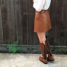 Faux Leather Mini Skirt Tutorial by Bunny Baubles Blog 8