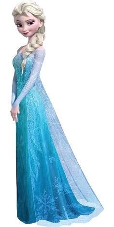 Elsa the Snow Queen - Disney Wiki... beautiful dress (missing the longer train) and I love her hair.