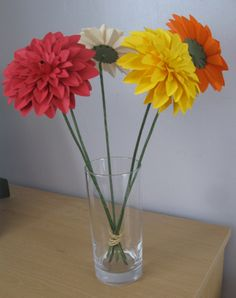 Hand Crafted Single Paper Chrysanthemum Flowers available in any colour you choose by JustJulesHomeDecor on Etsy