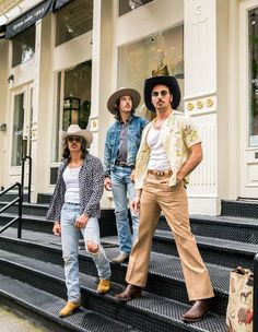 Rhinestone Suits and Cowboy Boots: Midland Reflects on Their Revolutionary Retro Style Cowboy Boot Outfits, Cowgirl Outfits, Cowboy Boots, Cowgirl Tuff, Cowgirl Style, Western Hat Styles, Midland Band, Country Western Fashion, Cowboy Up