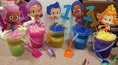 Bubble Guppies Centerpieces