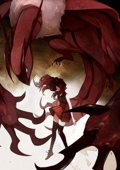 Yvonne o Serena, se podría decir que Yveltal es su legendario correspondiente Arte por tri-bby.deviantart.com #PokemonXY #KalosQueen