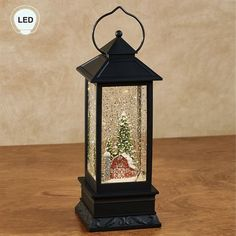 54bfda36a99b Barn Scene LED Lighted Holiday Glitter Lantern. Barn Scene LED Lighted  Lantern Black