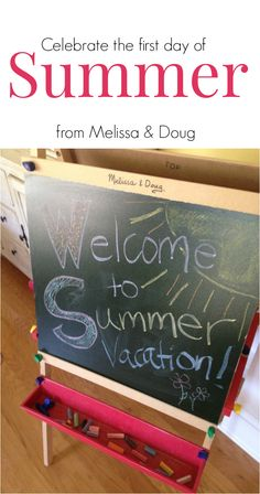 Celebrate the first day of summer vacation with your kids. Love this idea for making the whole season fun!
