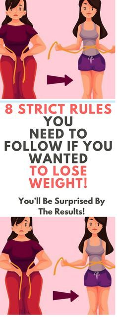 8 STRICT RULES YOU NEED TO FOLLOW IF YOU WANTED TO LOSE WEIGHT.! Read this!!