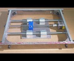 Homemade Mini CNC PCB Milling Router Mill DIY X Stage Frame Slide Aluminium Alloy Cnc Machine Tools, Router Machine, Cnc Router Plans, 3d Cnc, Cnc Projects, 3d Laser, Laser Printer, Milling, Lathe