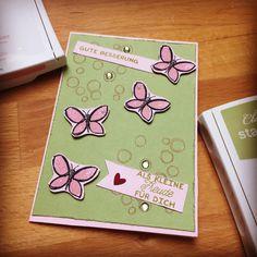 Stampin up! Karte für meine Omi  Mit playfule Backgrounds,Garden in Bloom und Designer-Grußelemente!