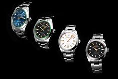 Designed to withstand magnetic fields of up to 1,000 Gauss, the Rolex Milgauss is an essential part of the multi-faceted Rolex family and enjoys a large fan base thanks to its exceptional design and functionality. The watch comes with a white or black dial and clear sapphire crystal (116400), or with a blue or black dial and green sapphire crystal (116400GV). Price Model, Large Fan, Buy Rolex, Rolex Models, Luxury Watch Brands, Green Sapphire, Magnetic Field, Rolex Watches, Fields