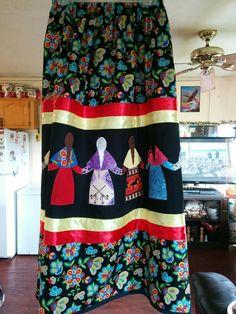 Native American Clothing, Ribbon Skirts, Native Design, Beadwork, Art Work, Dress Skirt, Indian, Sewing, Craft