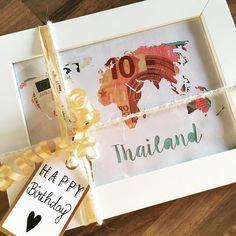 Geldgeschenk kreativ verpacken Geburtstagsgeschenk Reise Weltreise Geschenk Plotter Geld