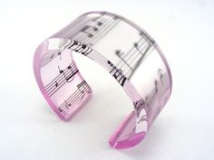 Music Note Bangle Pale Pink Lilac and Frosted by JessicaSherriff, £45.00