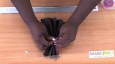 vidéo pliage de serviettes de table - YouTube