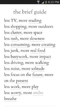 loads of ideas for simplifying & amplifying your life quality!