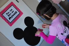 Pin the bow on Minnie Mouse! Super cute twist on the original pin the tail in the donkey game Minnie Mouse Theme, Mickey Mouse Clubhouse Birthday, Mickey Party, Birthday Party Games, Mickey Mouse Birthday, First Birthday Parties, 2nd Birthday, Mickey Mouse Party Games, Party Party