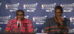Russell Westbrook and Kevin Durant Western Conference Finals game 2