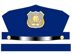 This police hat is perfect for Birthday parties, Classrooms, Halloween, or just to play pretend, The badge Has a blank plate provided to print the childs name. It is easy to assemble, all you need are scisors, tape, staples (optional), and paper (cardstock works best for a sturdy hat).
