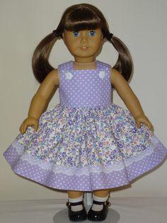 Jumper Dress for 18 inch American Girl by SewbeitsDollWear on Etsy