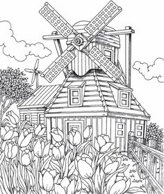 The Best of ColorIt Adult Coloring Book - Features 30 Original Hand Drawn Designs Printed on Artist Quality Paper with Hardback Covers, Spiral Binding, Perforated Pages, and Bonus Blotter by ColorIt Spiral-bound – Free Adult Coloring, Adult Coloring Book Pages, Printable Adult Coloring Pages, Coloring Pages To Print, Free Coloring Pages, Coloring Sheets, Coloring Books, Coloring Pages Nature, House Colouring Pages