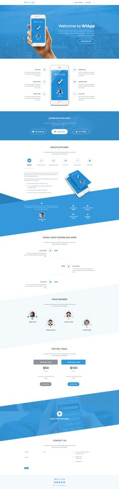 WiApp-Apps Landing Page Template • Download ➝…                                                                                                                                                                                 More