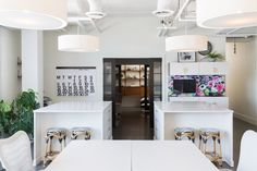 The Calgary Offices of Reena Sotropa Design Group | Rue Office Works, Open Ceiling, Modern Ranch, Garden Doors, Small Windows, Polished Concrete, Floor Finishes, Interior Design Studio, Open Floor
