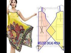Крой и шитье летнего платья и сарафана из двух платков или двух квадрато...