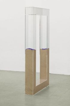 "Nicole Wermers ""Untitled Forcefield"", 2007. Acryl, sand, pigment, 212 x 114 x 22 cm."