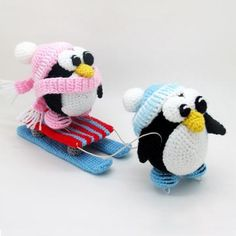Penguins sledge amigurumi crochet pattern by Masha Pogorielova (mashutkalu)