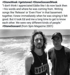 Eddie and Stone Pearl Jam Quotes, Mookie Blaylock, Jeff Ament, Matt Cameron, Temple Of The Dog, Gossard, He Is Coming, Acceptance Speech, Alice In Chains